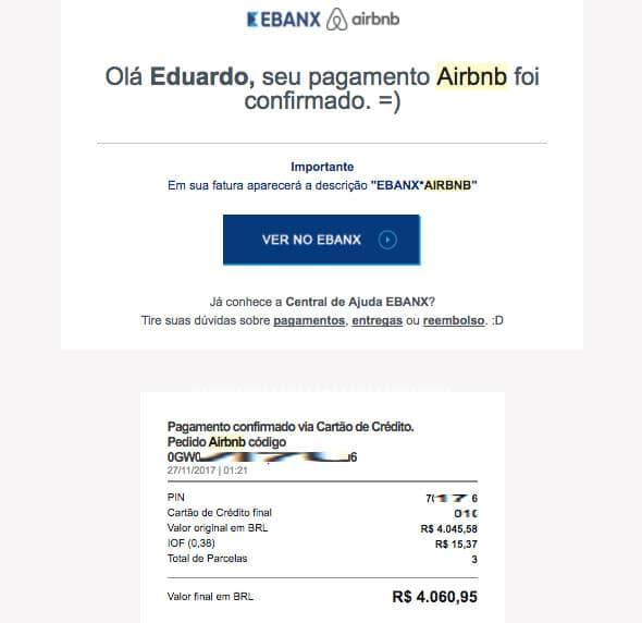 Parcelas do Airbnb no cartão de crédito brasileiro sem Cupom de Desconto
