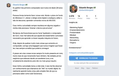 Grupo Telegram do Eduardo Borges