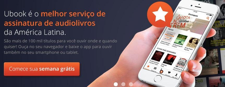 Ubook serviço de audiobooks ilimitados